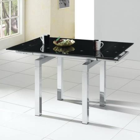 Black Glass Extending Dining Table Extending Glass Dining Table Mini Black