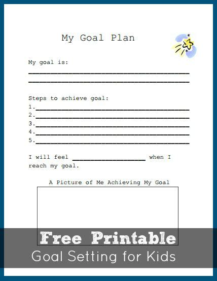 Goal Setting For Students Worksheet by Goal Setting Worksheet For Teaching How To Plan