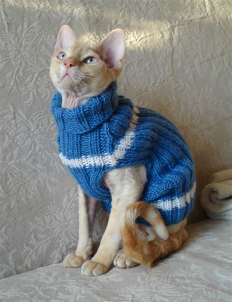Handmade Cat - handmade cat small jumper sweater coat wool turtle neck
