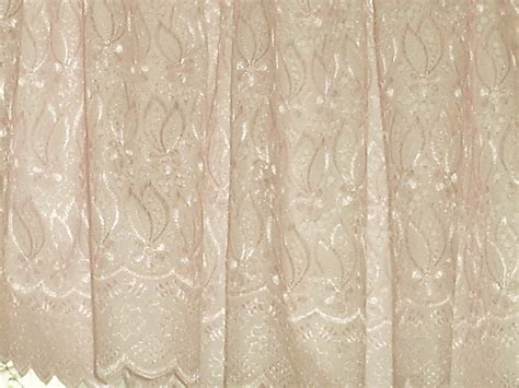 Lace Window Valances ivory lace eyelet window valance with scalloped edge