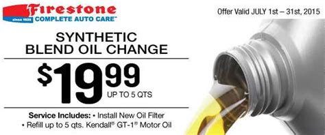 firestone coupon  oil change filter southern