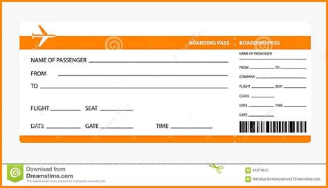 best airline ticket airline ticket template best business template