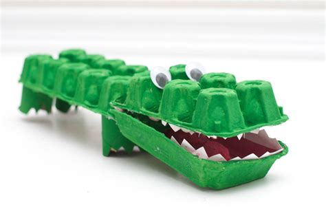 Krokodil Basteln Eierkarton by 4 Zoo Themed Crafts For And 1 For