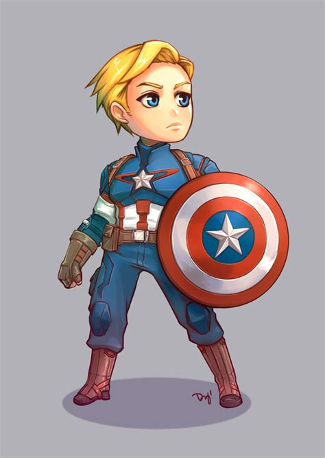 Figure Captain America Ironman Chibi captain america chibi by vitamindy on deviantart