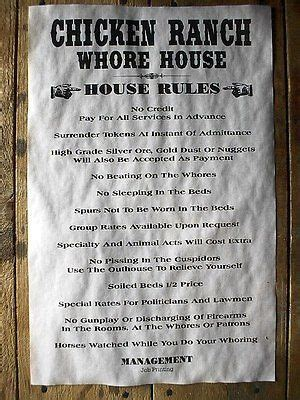 whore houses details about 210 old west brothel chicken ranch whore house rules novelty poster 18