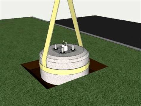 how to install light pole bases typical light pole installation c e system single