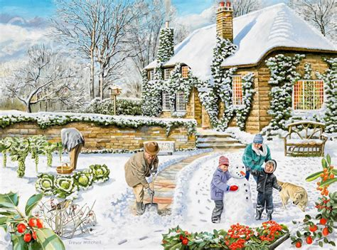 How To Paint Wall Murals snow scenes trevor mitchell artist