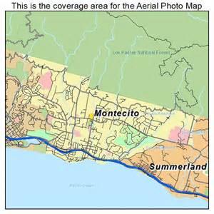 aerial photography map of montecito ca california