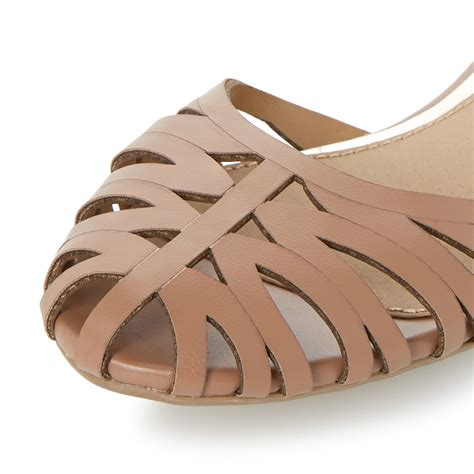 closed toes sandals dune haidyn closed toe hurrache sandals in brown lyst
