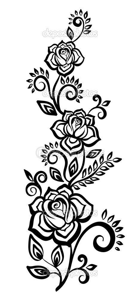 design flower black and white 7 black and white flower design images black and white