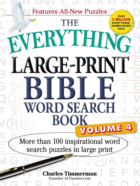 the everything large print tv word search book volume 2 120 must see word searches for tuned inâ tv fans books the everything large print bible word search book volume