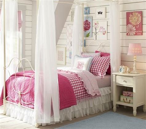 kids canopy bed allie iron bed canopy pottery barn kids