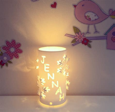 Personalised Snowflake Night Light By Kirsty Shaw