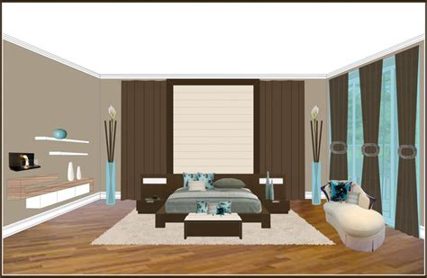elevation of bedroom modern bedrooms in candiac contemporary rendering