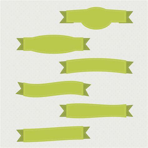 free ribbon vector banner set in ai eps cdr format green ribbon banner set free vector in adobe illustrator