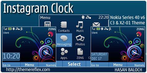 clock themes for nokia c3 instagram clock theme for nokia c3 x2 01 asha 200 201