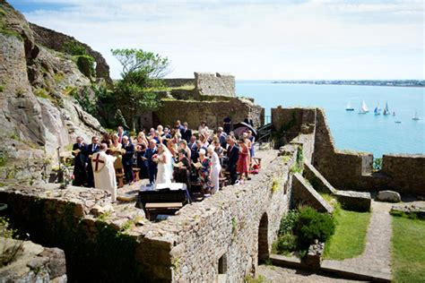 Wedding Ceremony Jersey Channel Islands by Mont Orgueil Castle Wedding Venue Jersey Heritage