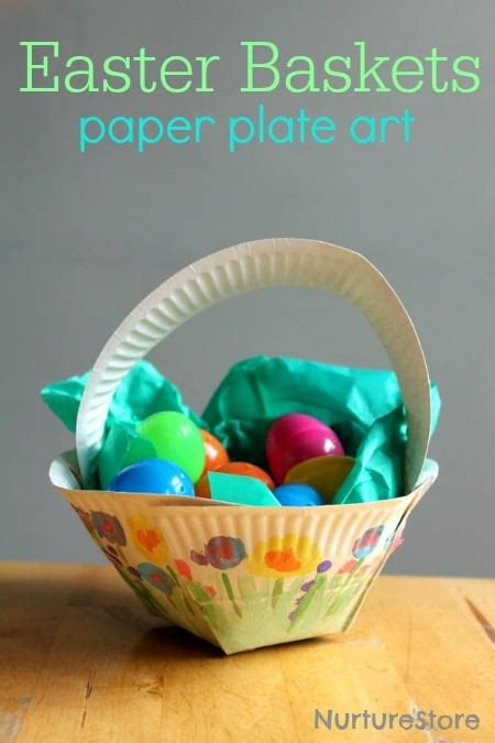 Crafts To Do With Paper Plates - paper plate easter basket craft nurturestore