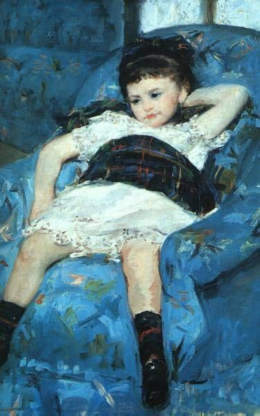 mary cassatt little girl in a blue armchair little girl in blue armchair mary cassatt