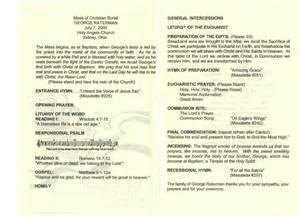 Funeral Mass Program Template by Catholic Funeral Mass Program