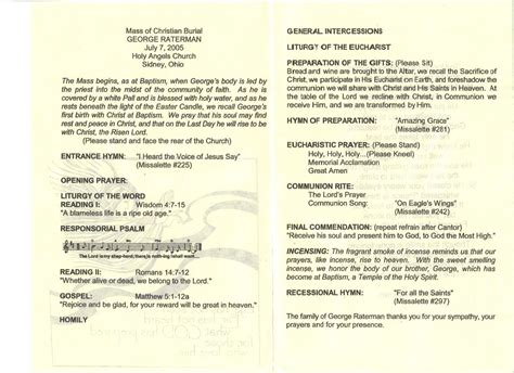 catholic funeral mass program template how to write catholic mass program funeral