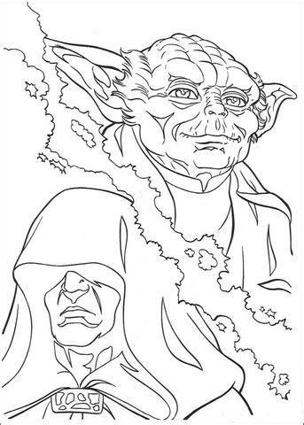 master yoda coloring page yoda and palpatine coloring page supercoloring com