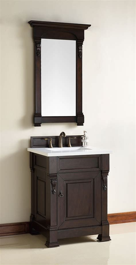 James Martin Brookfield Single 26 Inch Transitional 26 Inch Bathroom Vanities