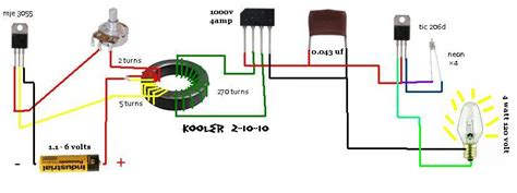 thief circuit diagram second stage joule thief circuits jt joule