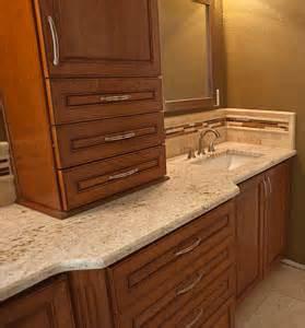 Bathroom Countertop Cabinet Master Bathroom Remodel Colonial Gold Granite Countertop