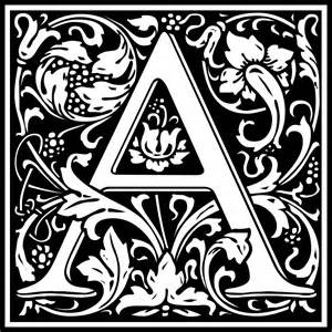 clipart william morris letter a