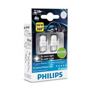 philips len led philips xtreme vision 360 led w5w t10 4000k side light