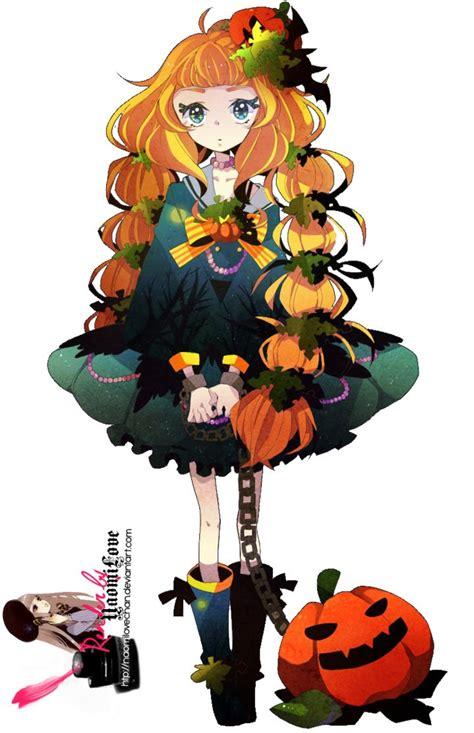 imagenes halloween chica anime halloween anime girl render google search holloween