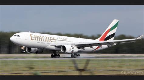 emirates a330 gorgeous emirates airbus a330 200 landing at saint
