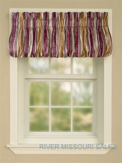 Multi Colored Valances top it striped multi color valance 72 quot x 18 quot in