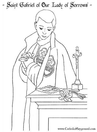 St Vincent De Paul Coloring Page