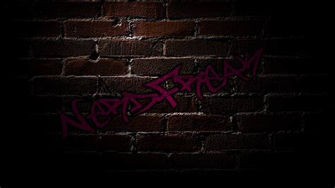 brick wallpaper with graffiti nerdfreak brick wall graffiti shadows wallpaper wallpapers