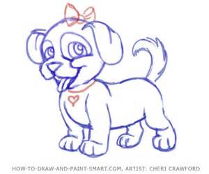 How to draw a puppy complete the drawing male models picture
