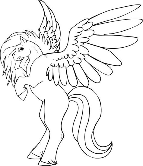 How To Draw A Pegasus Flying Www Pixshark Com Images Pegasus Coloring Pages