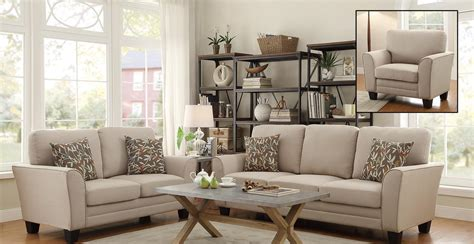 homelegance adair sofa set beige 8413be sofa set