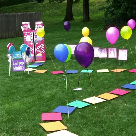 backyard birthday games backyard life size candyland game kids parties