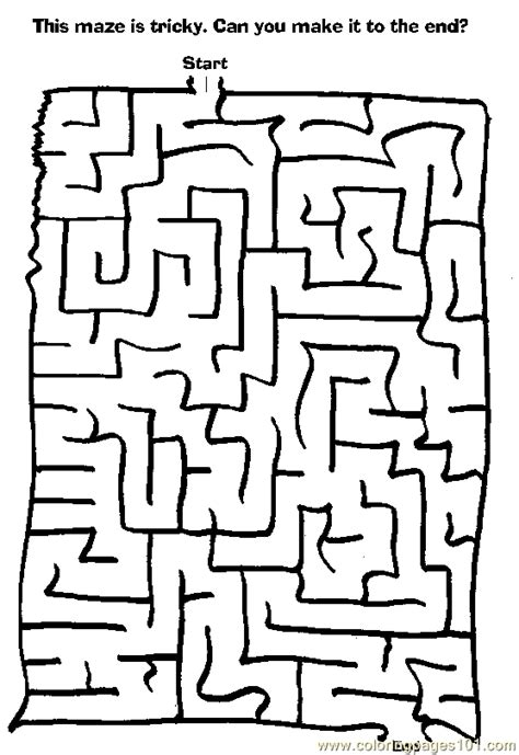 coloring pages maze 55 entertainment gt mazes free