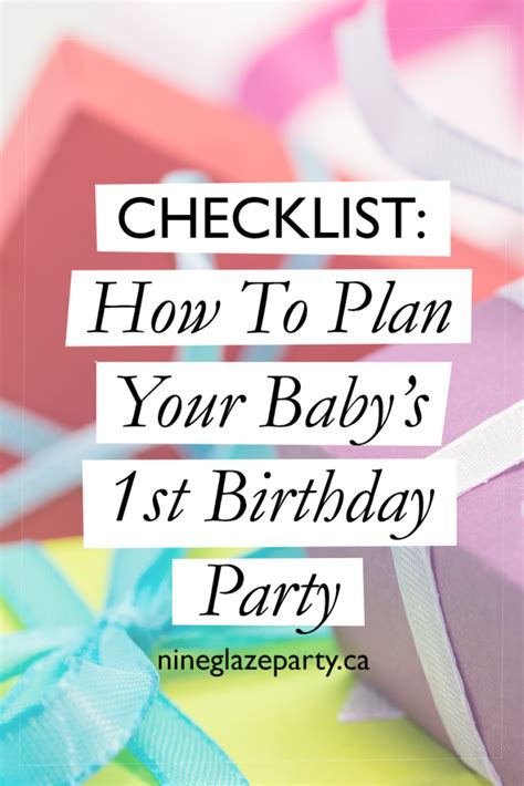 checklist how to plan your baby s 1st birthday party