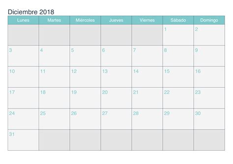 Calendario Diciembre 2017 Word Calendario Diciembre 2018 Para Imprimir Pdf Excel Word
