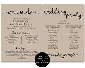 Program Fans For Wedding Ceremony Ceremony Program Template Printable Wedding Programs