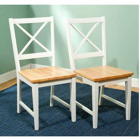 Dining Chair Ac 105 virginia cross back chair set of 2 white