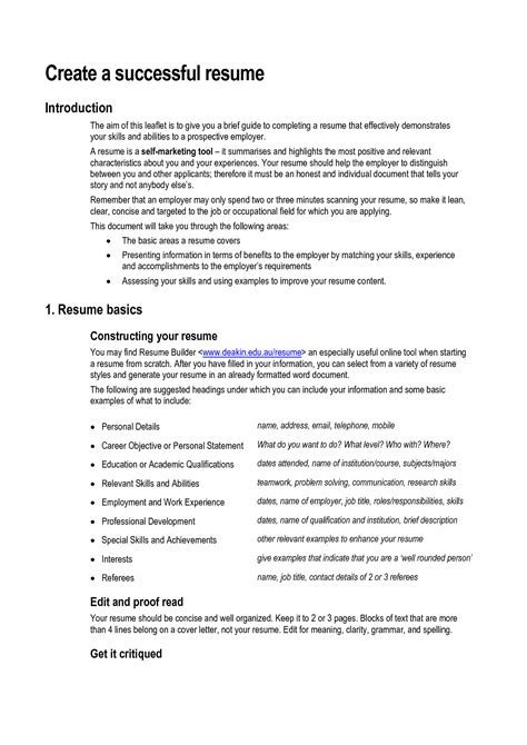 good resume skills and abilities free resume templates