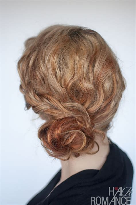 hairstyles with buns and curls curly bun hairstyle tutorial two ways hair romance