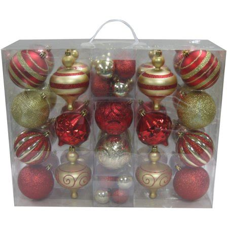 walmart ornaments pack time 64 shatterproof ornament set choose a color walmart