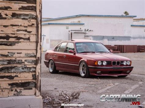 stanced bmw m5 stanced bmw m5 e34 187 cartuning best car tuning photos