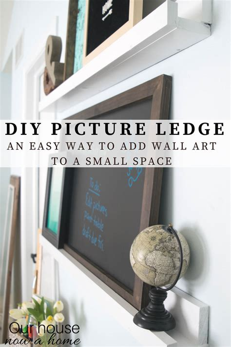 picture ledge step by step and pictures on diy picture ledge adding wall the easy way our house now a home